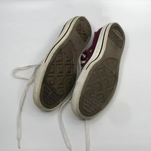 Converse Shoes - Burgundy Converse All Stars Low Top Sneakers sz 8